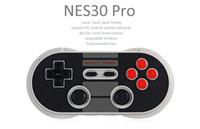 ps2 беспроводной игровой контроллер оптовых-2017 8Bitdo NES30 Pro Беспроводная Связь Bluetooth Геймпад Игровой Контроллер для iOS Android ПК Mac Linux