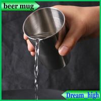 Wholesale Tea Fishing Cup - Beer mug 304 food grade stainless steel Camping cup mug drinking water beer coffee tea cups outdoor travel fishing drinkware