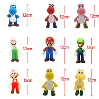 Wholesale Mario Ornaments - 9 styles Super Mario Action Figures 12cm Ornaments Cartoon Mario Bros Doll PVC Decoration Mario Brother Children Toy Birthday Gift and Game
