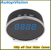 NOUVEAU Wifi 1080P Panda Digital Alarm Clock Hidden Spy Camera Détection de mouvement Clock Spy DVR 5.0M Pixels Mini Clock Hidden Cam