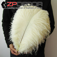 Wholesale White Ostrich Feathers For Sale - China Trading Manufacturer ZPDECOR Factory 40-45cm(16-18inch) White Ostrich Feather Centerpieces for wedding Table Decoration for sale