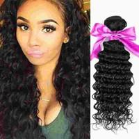 Wholesale Curly Remy Hair For Sale - Deep wave 4pcs brazilian hair bundles for sale 100% remy human hair 10a grade virgin unprocessed human hair loose deep wave