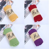 Wholesale Cheap Yellow Scarves - Multi-colored Fluid Systems Scarves Candy Color Women Scarfs Cheap Scarves Ladies Neck Scarf Turbans Wraps Neckerchief Shawl