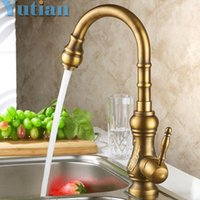 Wholesale classic brass bathroom faucets - Free shipping Kitchen Faucet Antique Brass Swivel Bathroom Basin Sink Mixer Tap Crane,Kitchen Faucet YT-6020