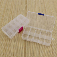 Wholesale Compartment Storage Bins - Wholesale Adjustable 10 Compartment Plastic Clear Storage Box for Jewelry Earring Tool Container Storage Bins