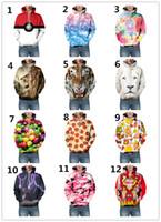 Wholesale Wholesale Animal Print Sweatshirts - 2016 3D Hoodie sweatshirt Poke printed animal food galaxy emoji Valentine sweatshirts hoodie for lovers hoodie funny jogging Xmas gift EMS