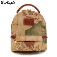 sacos do mapa venda por atacado-Mapa do mundo de alta qualidade mochila mulheres mochila de couro mochila de impressão mochila saco de viagem HC-Z-6972