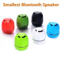 Wholesale Low Price Wireless Speakers - Hot Selling Low Price New Smallest Pocket-size Portable Wireless Mini Handsfree Bluetooth Speaker with TF Card Slot
