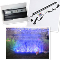 Wholesale Beaming Bubble - NEW SMD 47CM 5.2W Aquarium led lighting Fish Tank BEAMING Underwater Submersible Air Bubble Safe LED Lights