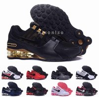 Wholesale Sports Current - 2016 Shox Current Air Cushion Running Shoes Mens Original White Gold Black Shox NZ Trainers Sneakers Shoes Sport Shox Shoes Size 36-46