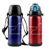 Wholesale Thermos Flask Sale - Hot sale thermoses water bottle vacuum flasks Brief Thermos Water Cup,hand lanyard thermal stainless steel bottle free shipping