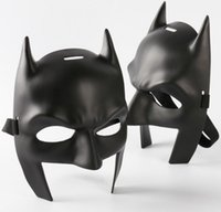 Barato Preto, Metade, Batman, Máscara-Black Batman Mask Masculino Batman v Superman: Amanhecer da Justiça Adulto Half Mask Masquerade Cosplaly Máscara Face Props One Szie