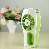 Wholesale Usb Mini Air Conditioner - Newest handheld misting fans cooler, Portable Humidifier Fan mini fan usb Rechargeable air conditioner Diffuser ventilador del humidificador