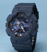 Wholesale military denim - New color G110 men military denim watches climbing running swimming camouflage 110 100 sport shock watch Drop Ship