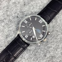Wholesale watch box leather luxury for sale - Group buy hot saleTop Brand Men Dress Watches Quartz Military Watch Luxury Leather Wristwatches Fashion Casual Watches black brown band steel with box