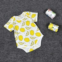 Wholesale Cartoon Body Suit - New Baby Boys Girls Cotton Cartoon Rompers Body Suit Newborn Short Sleeve Romper Onesies 100% Cotton Clothing Sets Triangle KR0002
