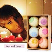 ingrosso set di sapone fatto a mano-VIP DHL SOLO Bombe da bagno set regalo (6 PZ a scatola) Sali da bagno Saponi a sfera Handmade Bath ball