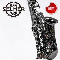 Wholesale Brass Sax - 2017Top New High Quality Saxophone Alto Sax Selmer 54 alto saxophone Musical Instruments Professional E-flat Sax Alto Saxophone