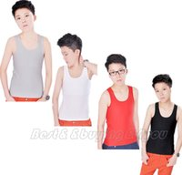 Wholesale Wholesale Chest Vest - Wholesale-Les Lesbian Tomboy Breath Mesh Long Chest Binder Trans Undershirt Vest S-2XL Red Gray Black White Free Shipping