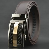 Wholesale Wide Brown Waist Belts - 35mm wide Formal real leather belt good selling alloy sliding buckle leather belt man belt waist belt