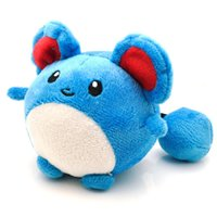Wholesale Tomy Dolls - 11cm Pokémon Pocket Monsters Tomy Marill Plush Toy Soft Stuffed Animal Toys Doll Gift for Children Wholesale