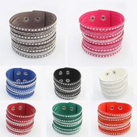 Wholesale Girls Love Heart Top - Top Grade Bohemian Bracelet Hot Sale Fashion Multilayer Leather Cuff Charm Bracelets For Women Girl Men Gift Jewelry Wholesale 0376WH