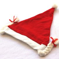 Wholesale Cristmas Gifts - 5Pieces  Lot Christmas Hats Cap Girls Braid New Year Hat Merry Christmas Gift Cristmas Decoration