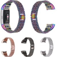 Wholesale Wholesale Bead Strap Bracelets - Metal bead Replacement Strap For Fitbit Charge 2 Heart Rate Smart Wristband Bracelet Watch Bands for Fibit charge 2 band