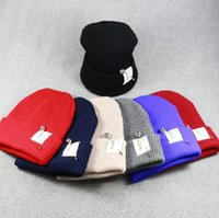 Wholesale Qiu Dong Man - New Post Woven Lable Of Men And Women Cold Hat Money Lady Knitting Hat Qiu Dong The Day Han2 Ban3 Warm Pointed Cap TT