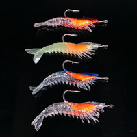 Wholesale shrimp bait - 10pcs cm g shrimp hook Soft baits fishing hooks Silicone lures Artificial Pesca Tackle Accessories
