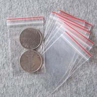 Wholesale Free Groceries - Free Shipping 1000pcs lot Mini Plastic Bags Ziplock Seal Transparent Poly Bags Packaging Packages Packing 40X60mm Grocery Bags