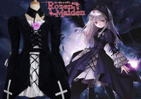 Wholesale Lolita Lamp - Japanese Anime Rozen Maiden Cosplay Mercury Lamp Suigin Tou Costume Maid and Lolita Dress Dress +Coat + Pectoral per set