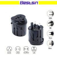 Wholesale global travel adapter resale online - All in One Global International Plug Adapter Port World Travel Power Charger Adapter with AU US UK EU Converter Plug