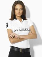 Wholesale Shirt Fabrics Wholesale - 2016 New Women Shirt Short Sleeves Lapel Collar Latter Pattern 100% Cotton Breathable Soft Fabric Fashion Slim Style