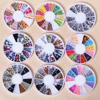 Wholesale Floral Nail Art Designs - New Mix Color Floral Design Nail Art Stickers Decals Manicure Beautiful Fashion Accessories Decoration 10set Lot B0629