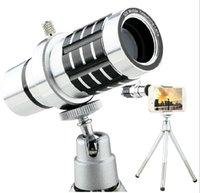 Wholesale Mobile Phones Telescope Camera 12x - mobile camera lens 12X Magnification Zoom Optical cell phone Telescope Camera Lens With Clip Universal Optical Zoom Camera Lens 12X