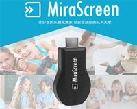 Wholesale Tv Wi Fi Dongle - New MiraScreen OTA TV Stick Dongle Better Than EZCAST EasyCast Wi-Fi Display Receiver DLNA Airplay Miracast Airmirroring Chromecast V1627