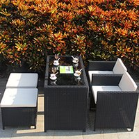 outdoor restaurant tables and chairs - Bar Restaurant Balcony table and chairs PE rattan wicker sofa set wicker Garden patio outdoor furniture Rattan Sofa Set Rattan table chair