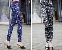 Cinco Estrellas Imprimir Leggings Jeans Cheap Ripped Denim Spandex Graffiti Fitness Legging para las mujeres Pantalones Leggings Sexy Envío Gratis