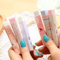 1Pc Material de papelaria Kawaii Cartoon Pencil Erasers para Office School Kids Prize Writing Drawing Wholesale
