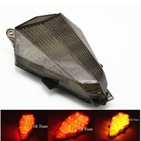 1PCS Motorcycle Integrated LED Freio Tail Light Turn Signals para YZF R6 2006-2007 New turn lights Frete grátis