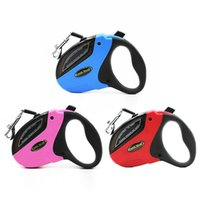 Wholesale Dog Buttons - Hot Selling Retractable Dog Leash for Small Medium Large Dogs up to 110lbs, 5m lead, Tangle Free, One Button break& Lock