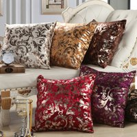 Wholesale Wholesale Luxury Sofas - Luxury Silver Floral Pillow Case Throw Pillow Cover Cushion Cover Home Sofa Bedroom Decoration