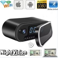 Wholesale Wi Fi Hidden Camera - Full HD 1080P Hidden Clock Camera with IR Night Vision Motion Detection Video Cam Support Wi-Fi