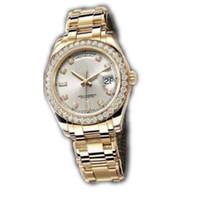 reloj mecánico para niños al por mayor-Alta calidad Automático Mecánico Oro Acero inoxidable Boy Girl Watch, Diamantes de lujo Estilo clásico Unisex Hombres Mujeres Lady reloj