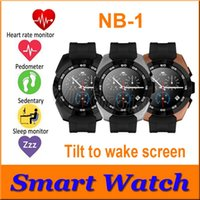 Wholesale Cheapest G5 - Cheapest G5 Bluetooth smart watches NB-1 Wrist SmartWatch MT2502C ultra slim heart rate monitor raise hand wake up screen for IOS Android
