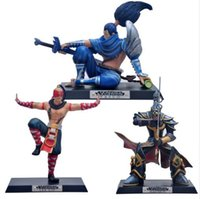 Wholesale Master Yi - NEW Hot 15-17cm Action Figure Toys The Blind Monk Lee Sin Wuju Bladesman Master Yi Unforgiven Yasuo Christmas gift no box