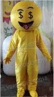 Wholesale Smiling Mascot - Professional custom Emoji expression smile face Mascot Costume Cute Cartoon Clothing Character Mascot Party Dress EMS Free Shipping