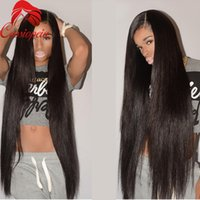 peluca de pelo promocion al por mayor-Promoción 32inches largo del pelo humano U parte pelucas sedoso recta Glueless pelo virginal malasio U parte pelucas del cabello humano para mujeres negras