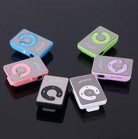 musica deportes mp3 al por mayor-Mini Clip Reproductor portátil de música MP3 multimedia con línea de datos USB + auricular deporte reproductor de mp3 walkman lettore mp3